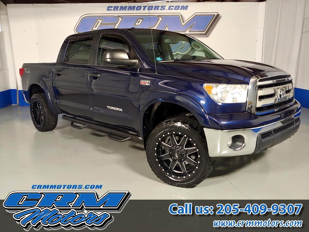 2013 Toyota Tundra 4WD Truck CREWMAX, 4WD, CUSTOM LEATHER, LIFTED, WHEELS, & TI