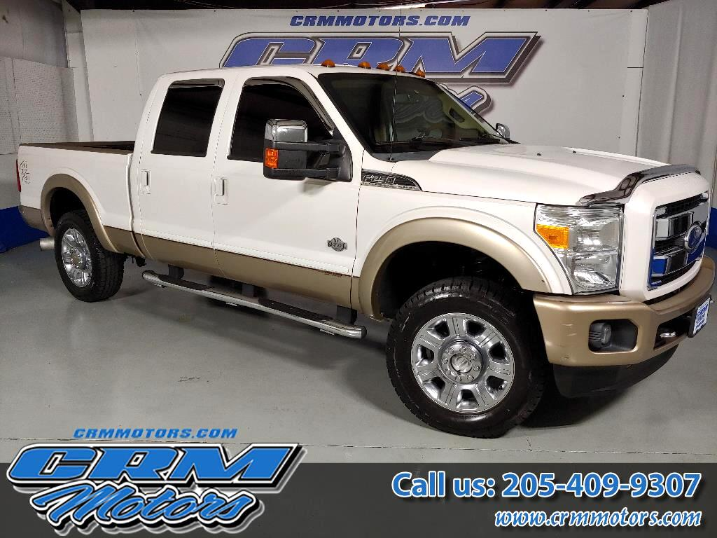 2012 Ford Super Duty F-250 SRW 4WD 6.7L DIESEL, CREW CAB, KING RANCH & FULLY LOAD