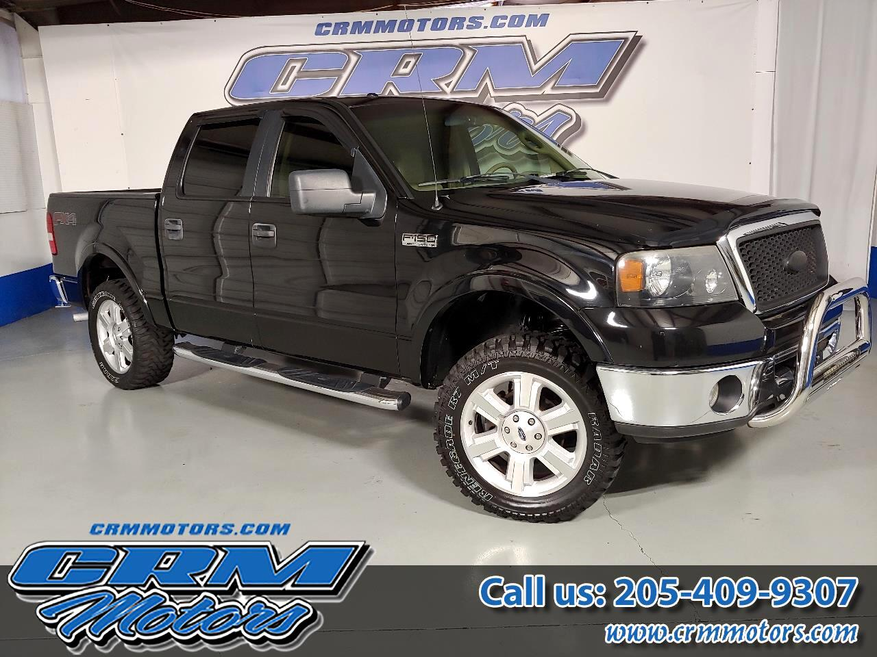 2007 Ford F-150 4WD, SUPERCREW, LARIAT, LEATHER, OFFROAD TIRES!