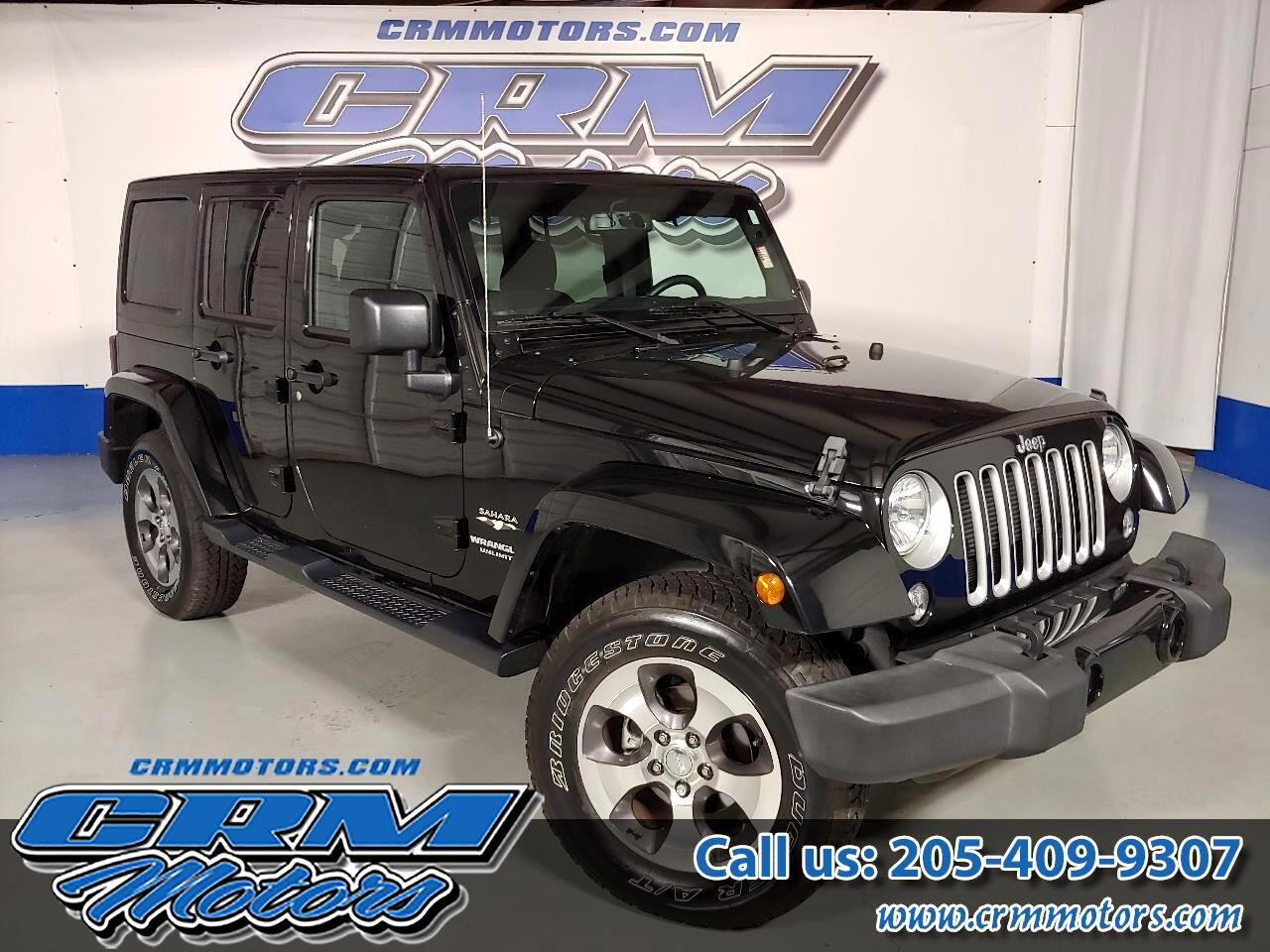 2016 Jeep Wrangler Unlimited 4WD, SAHARA, BLACK HARD TOP, BEAUTIFUL!