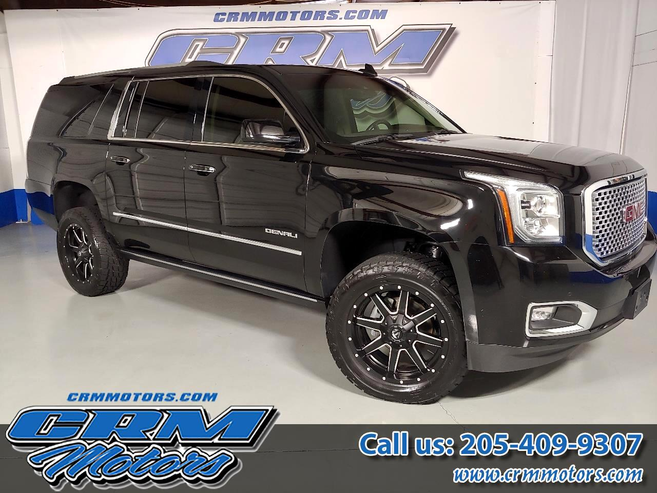 2015 GMC Yukon XL 4WD, DENALI, LIFT, FUEL WHEELS, LEATHER, NAV, SUNR