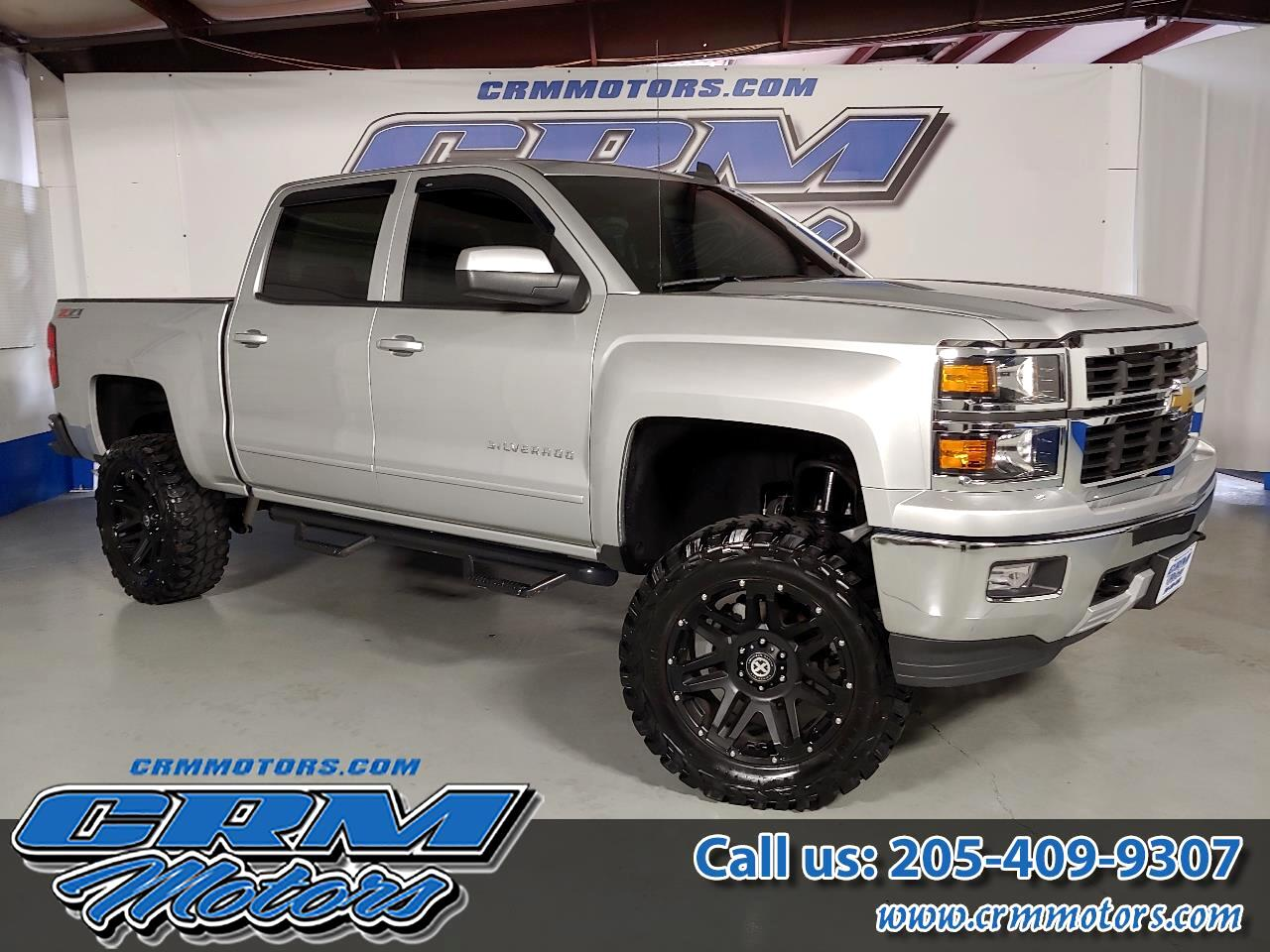 2015 Chevrolet Silverado 1500 4WD CREW CAB LT, LEATHER, 6 INCH LIFT & 37 IN TIRE