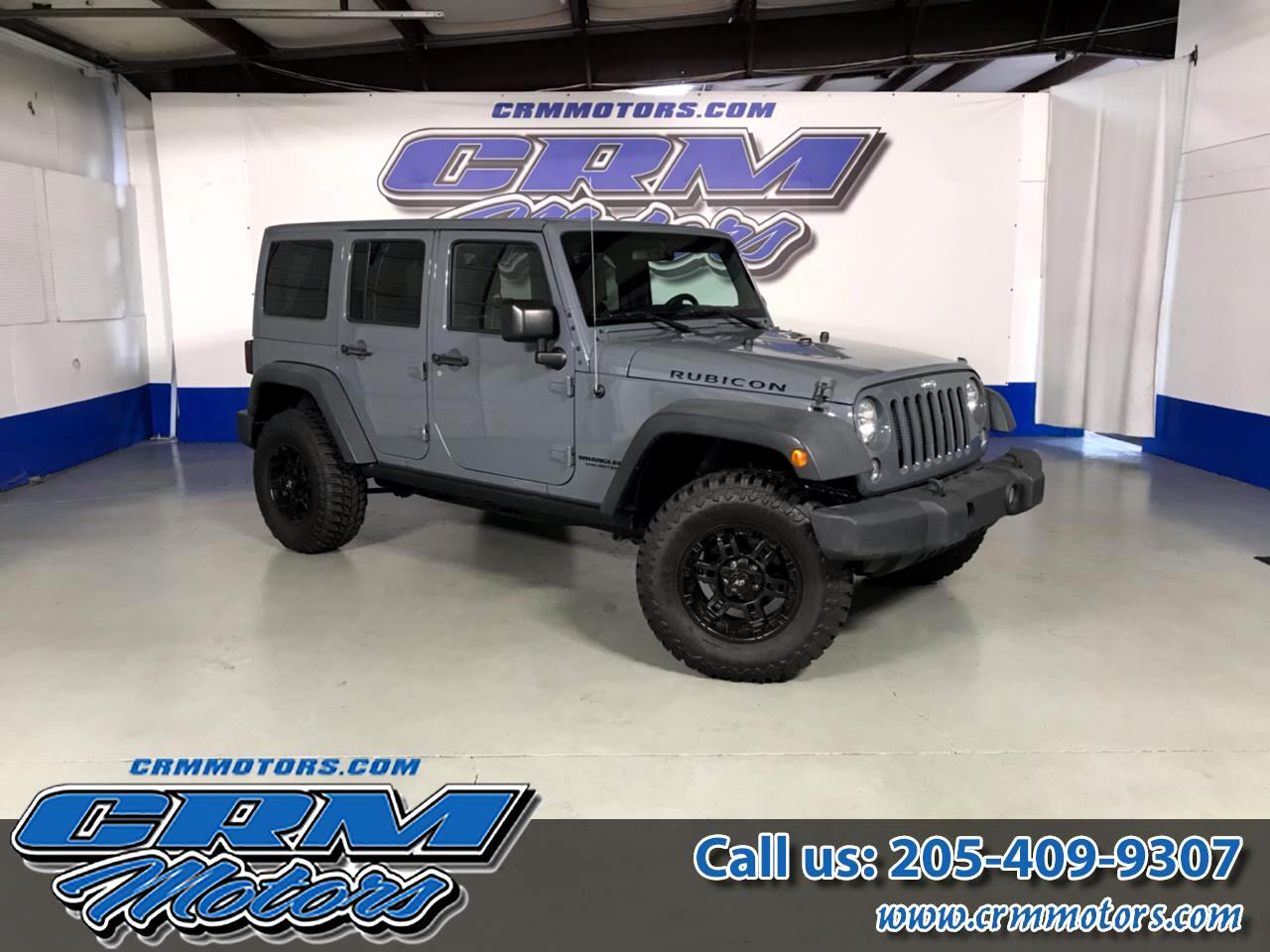 2015 Jeep Wrangler Unlimited 4WD, 4 DR, RUBICON, DESIRED COLOR, ONE OWNER!