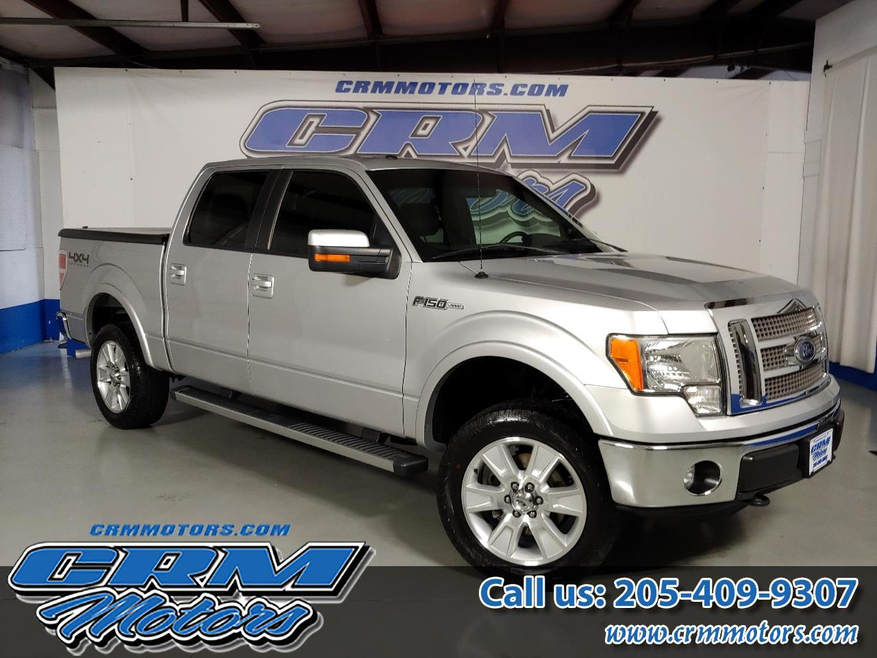 2012 Ford F-150 4WD SUPERCREW LARIAT W/ BED COVER!