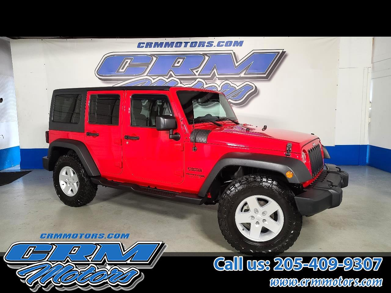 Jeep Wrangler JK Unlimited Sport 4x4 2018