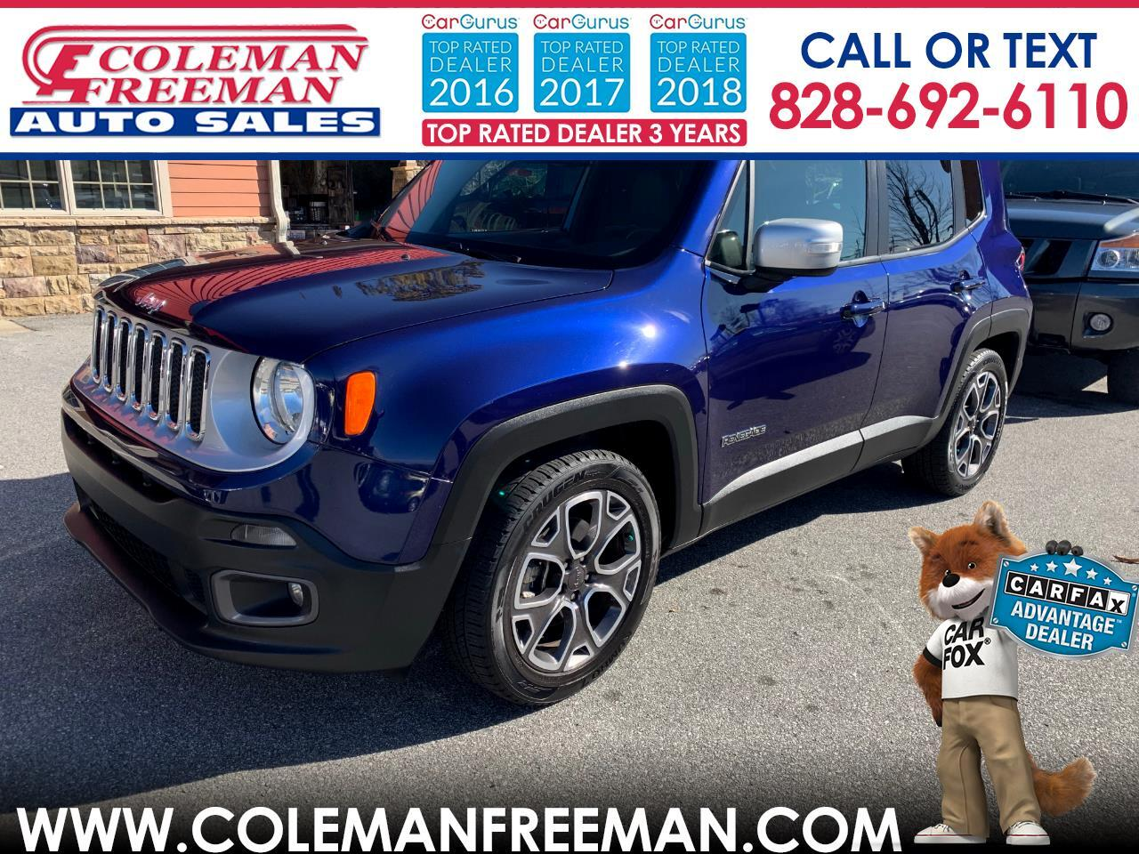 2016 Jeep Renegade FWD 4dr Limited