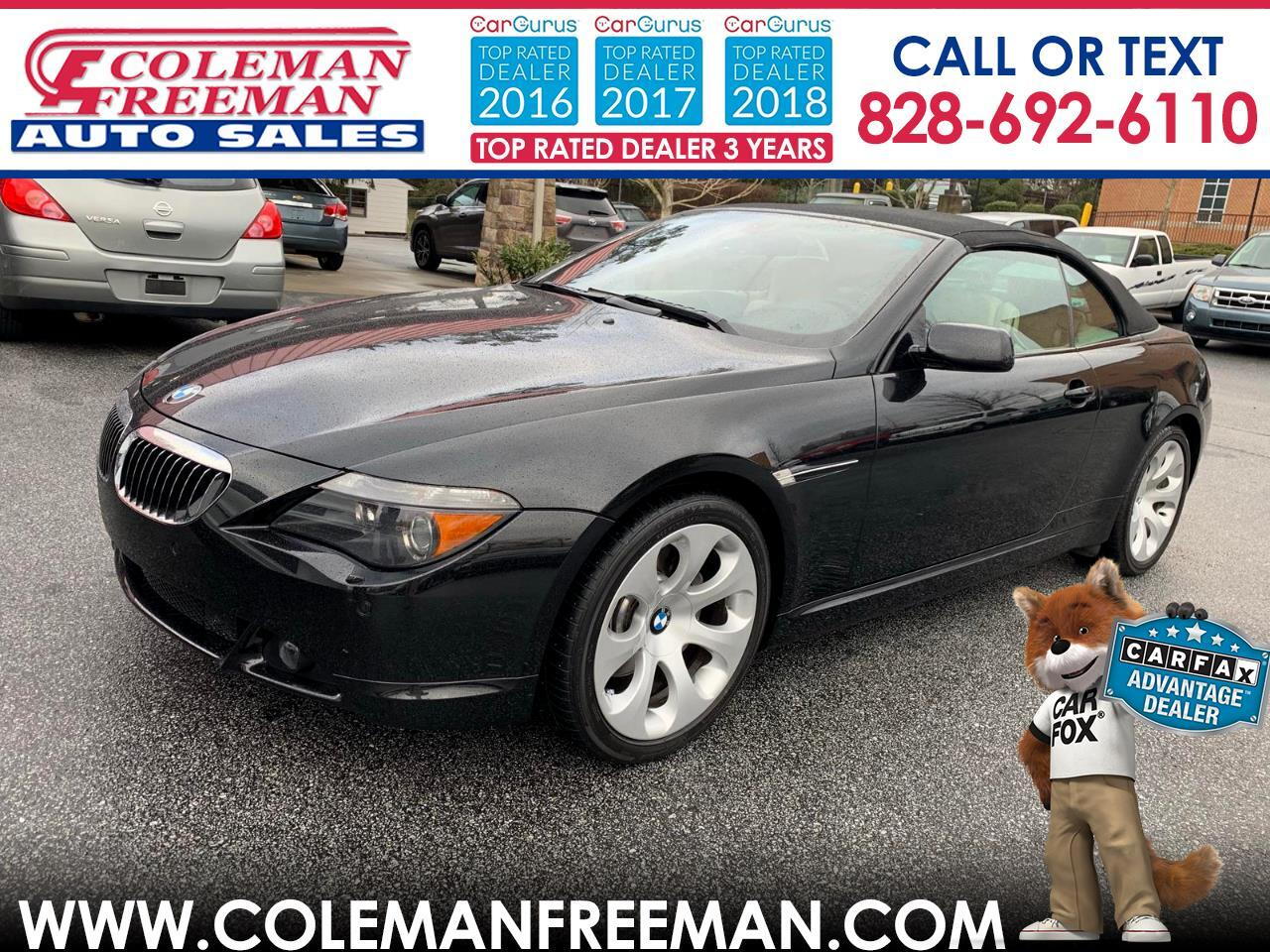 2005 BMW 6 Series 645Ci 2dr Convertible
