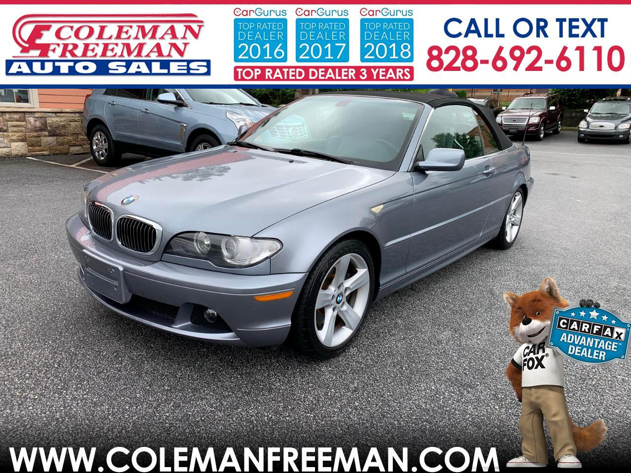 2006 BMW 3 Series 325Ci 2dr Convertible