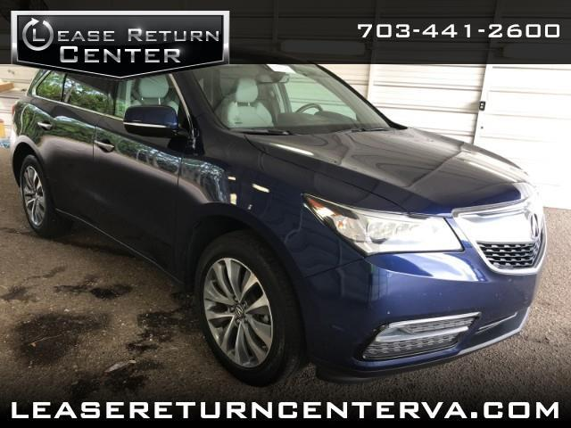 2016 Acura MDX Tech Package With Navigation System