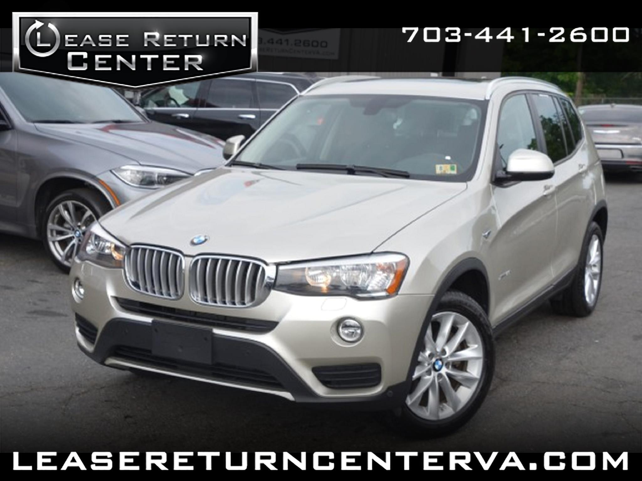 2016 BMW X3 sDrive28i With Navigation