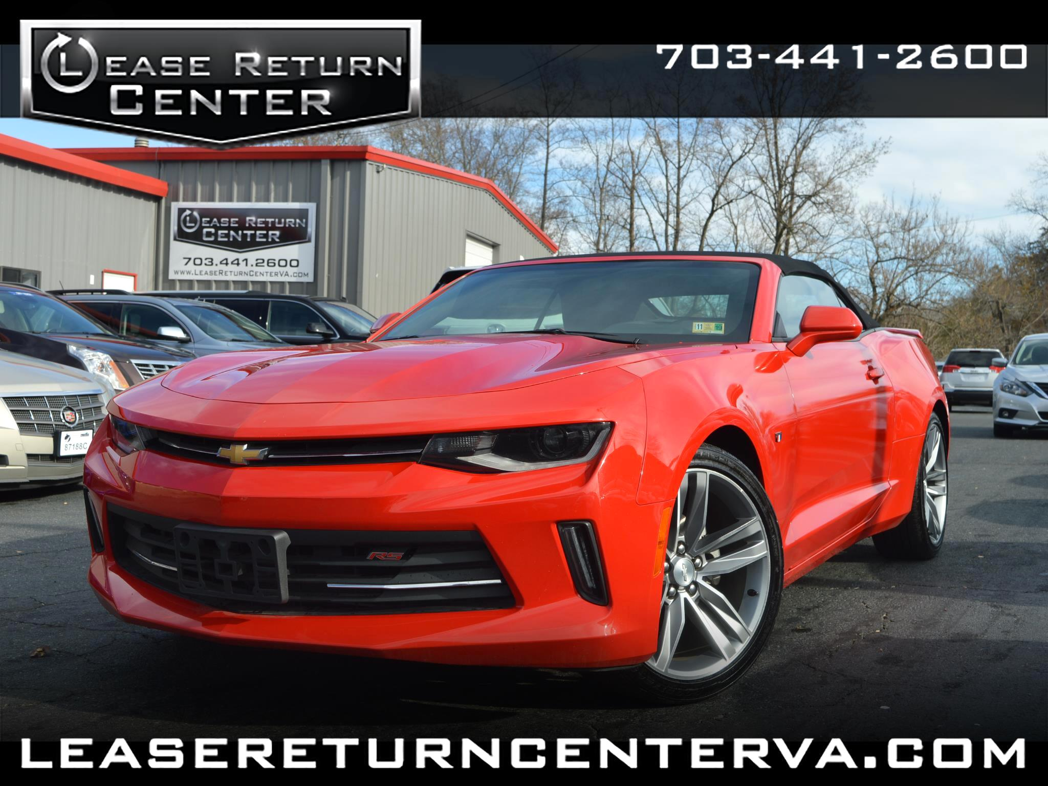 2017 Chevrolet Camaro Convertible LT with RS package