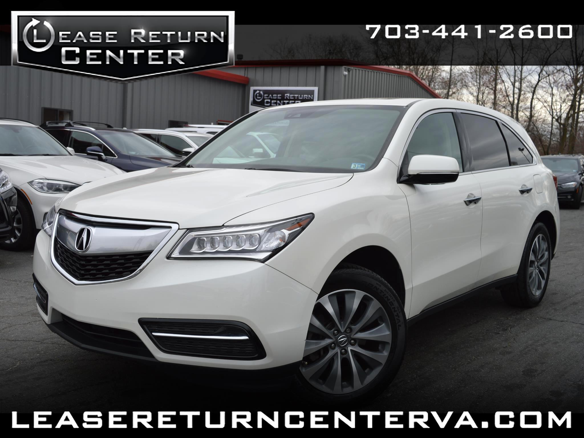 2016 Acura MDX Navigation System with Tech Package Acura Watch Pl