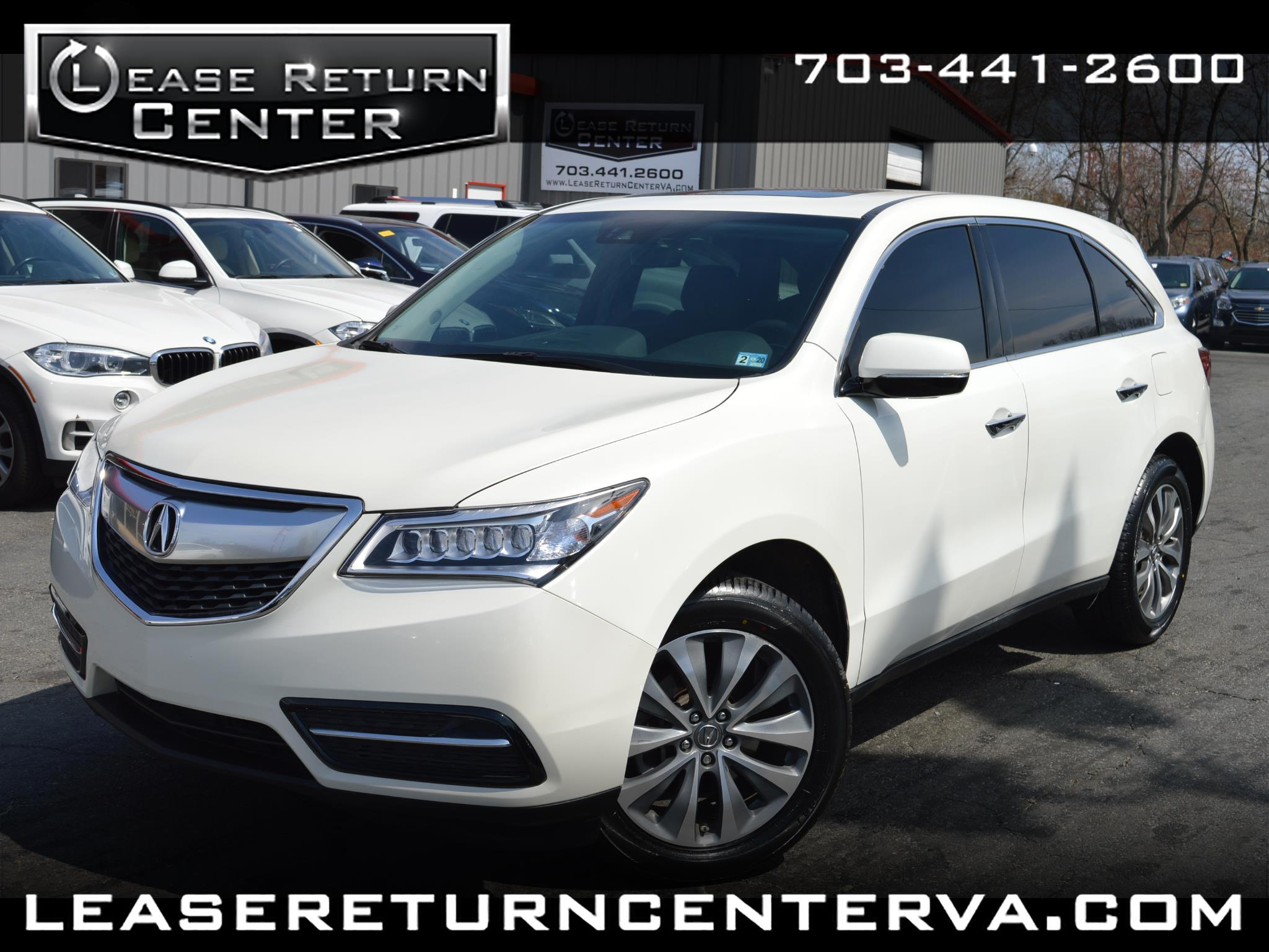 2016 Acura MDX Tech Pacakge with Navigation