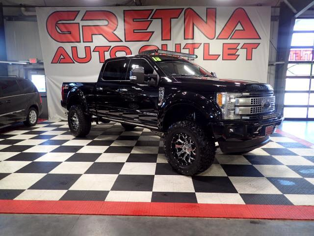 2018 Ford F-250 SD 1 OWNER LIFTED PLATINUM POWER STROKE DIESEL 4X4!