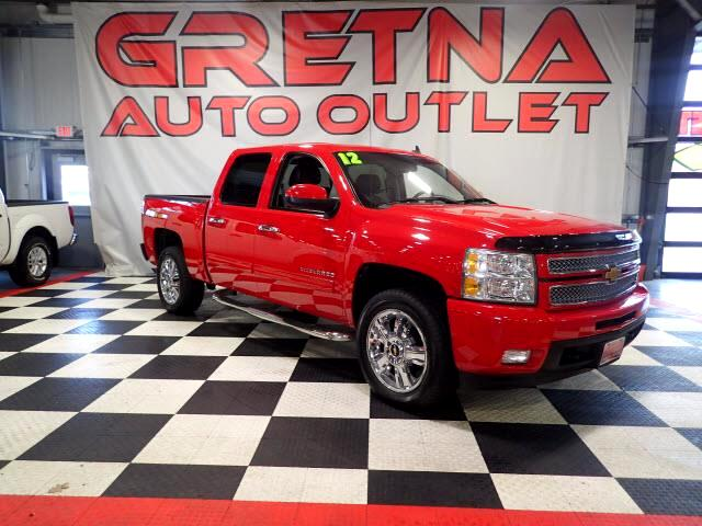 2012 Chevrolet Silverado 1500 1 OWNER LTZ CREW 4X4 AUTO 5.3L V8 68K H/C LEATHER!