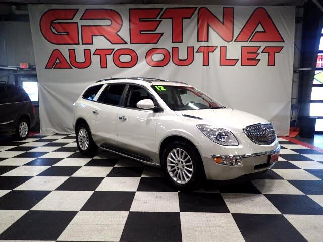 2012 Buick Enclave 1 OWNER AWD HEATED LEATHER! DUAL MOONROOF 116K