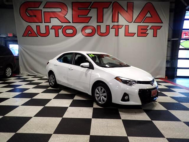 2015 Toyota Corolla 1 OWNER AUTO SEDAN S ONLY 44K! LEATHER! LOADED UP!
