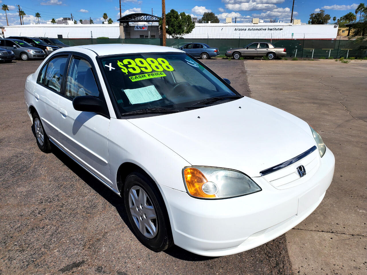 Honda Civic LX Sedan 4-spd AT with Front Side Airbags 2003