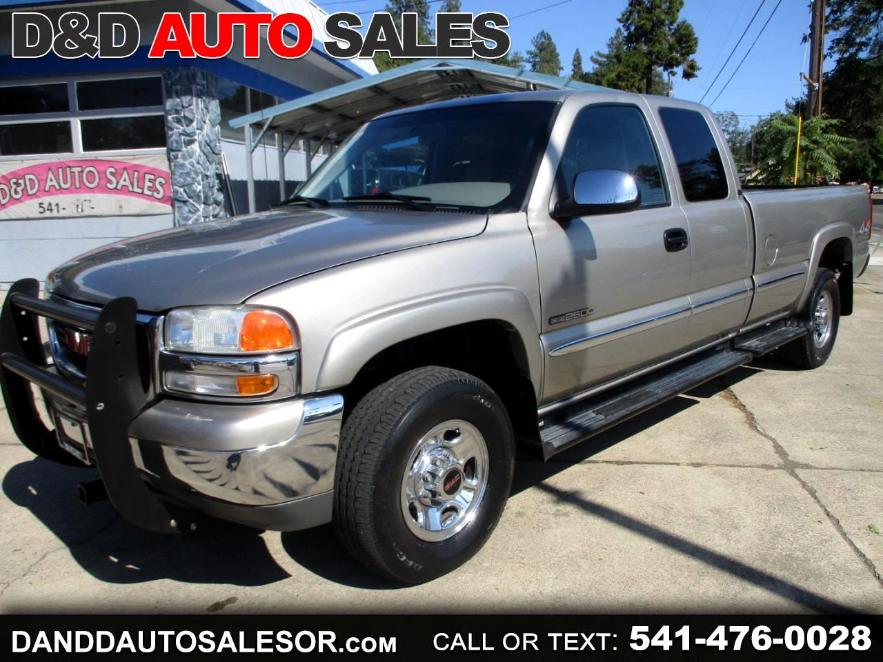 used 2000 gmc sierra 2500 sle 4 door ext cab long bed 4wd for sale in grants pass or 97526 d d auto sales used cars grants pass or