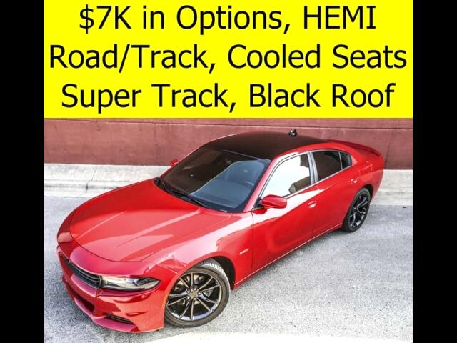 2015 Dodge Charger R/T with Road and Track Black Roof Cooled Seats