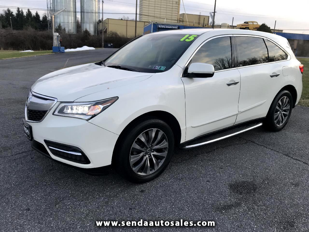 Acura MDX SH-AWD 6-Spd AT w/Tech and Entertainment Package 2015