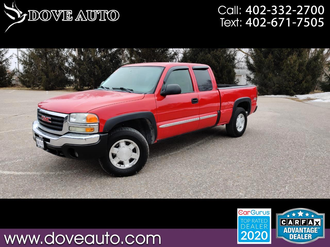 GMC Sierra 1500 SLE Ext. Cab Short Bed 4WD 2005