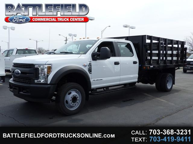 2018 Ford Super Duty F-450 DRW Crew Cab w/12' Stake Body