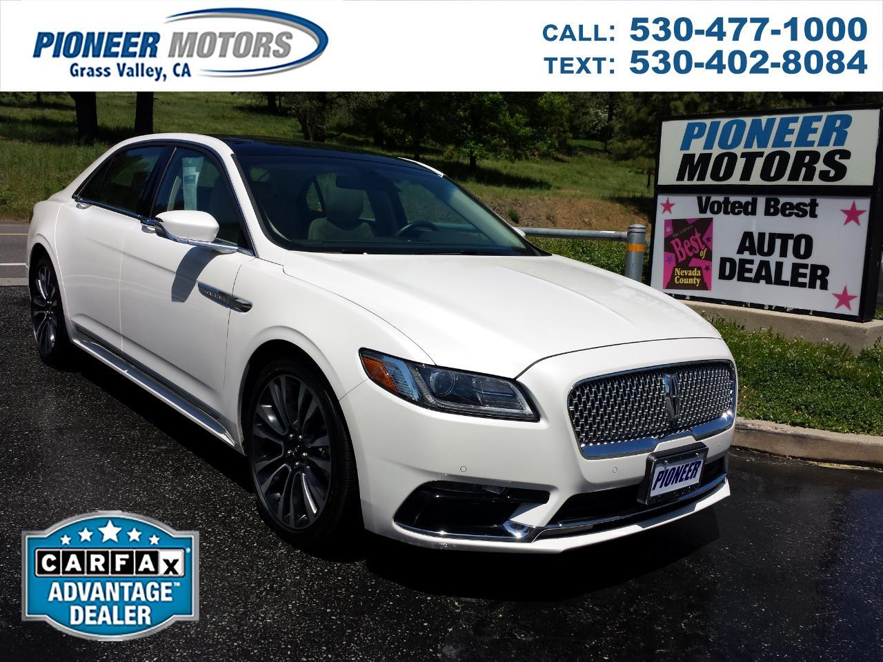 Lincoln Continental Select AWD 2018