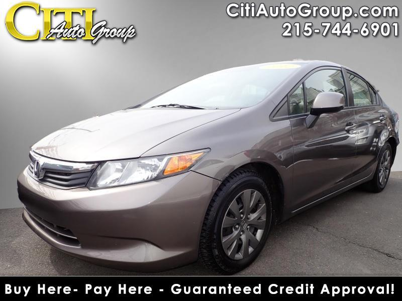 2012 Honda Civic LX 4dr Sedan 5A