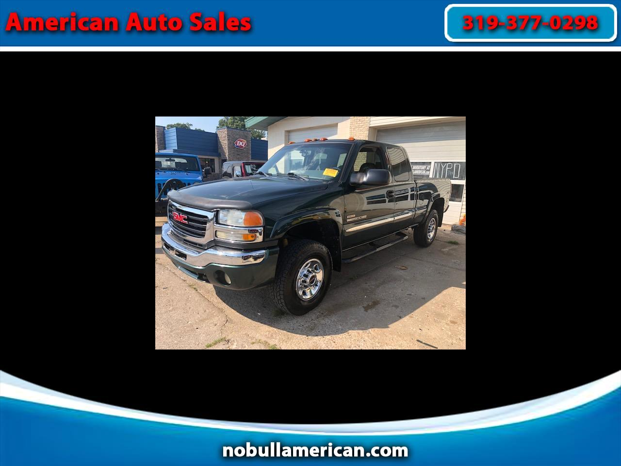 GMC Sierra 2500HD SLE Ext. Cab Short Bed 4WD 2005