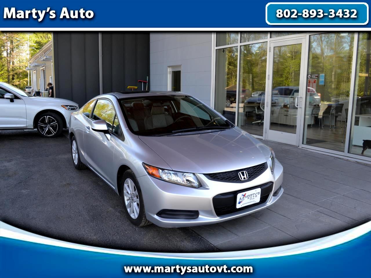 Honda Civic Cpe 2dr Auto EX 2012