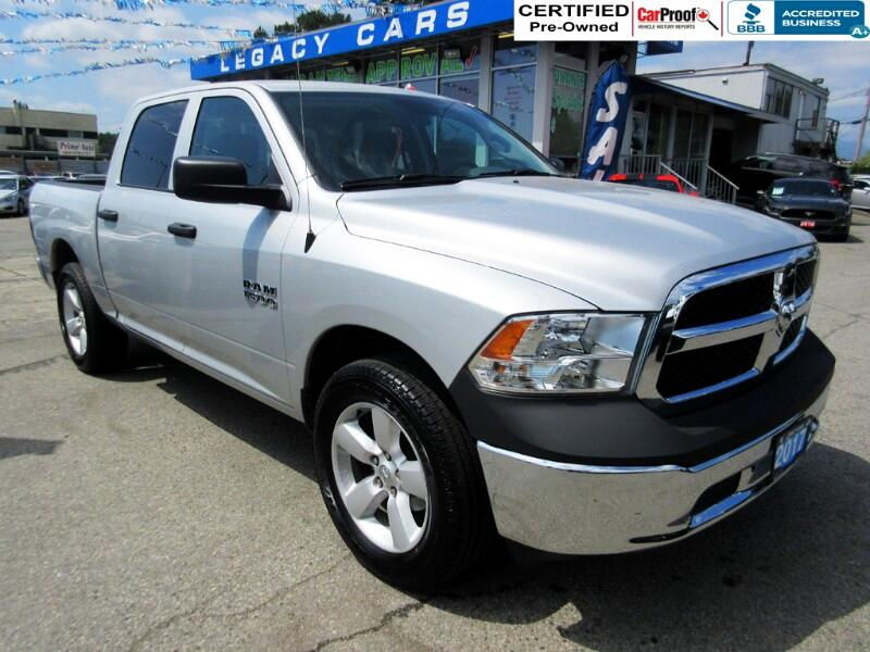 2017 RAM 1500 $213 biwkly* ST CREW CAB 4WD