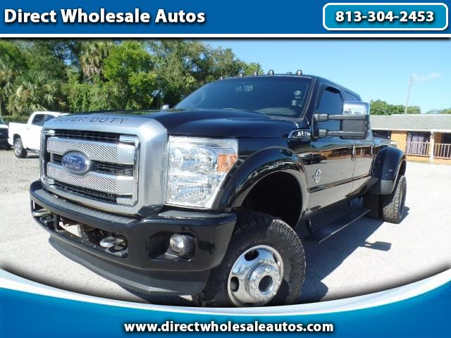 2014 Ford F-350 PLATINUM LARIAT 4X4 DIESEL DUALLY LIFTED CREW CAB