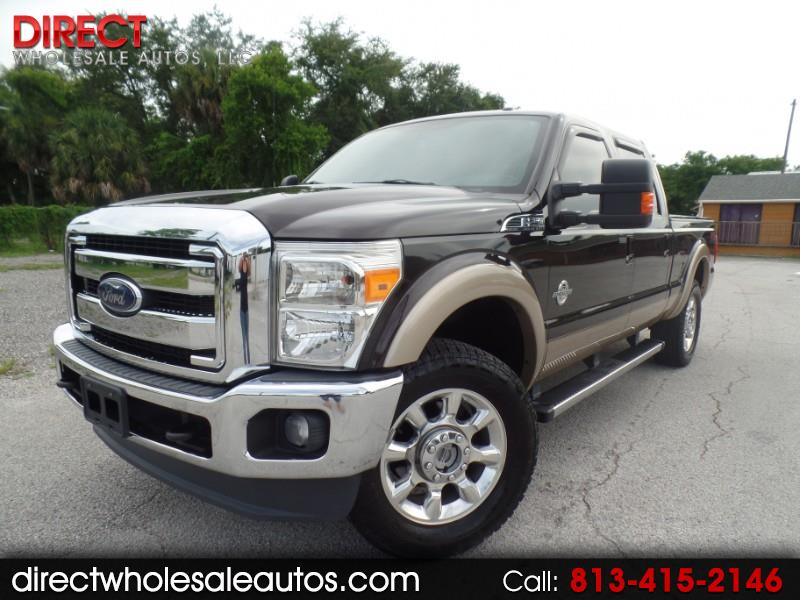 2013 Ford F-250 SD LARIAT 4X4 DIESEL CREW CAB LONG BED