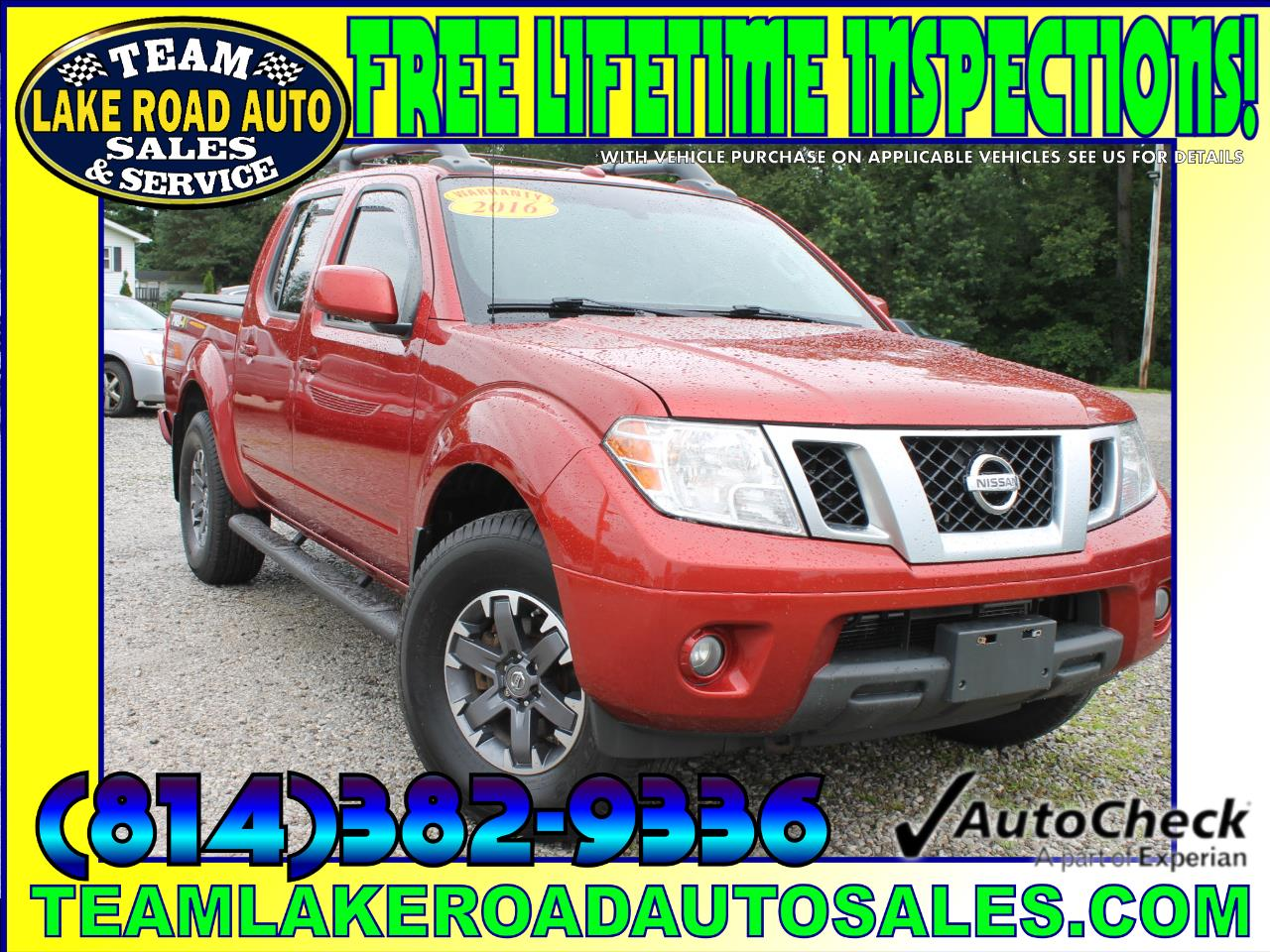 2016 Nissan Frontier PRO-4X Crew Cab 5AT 4WD