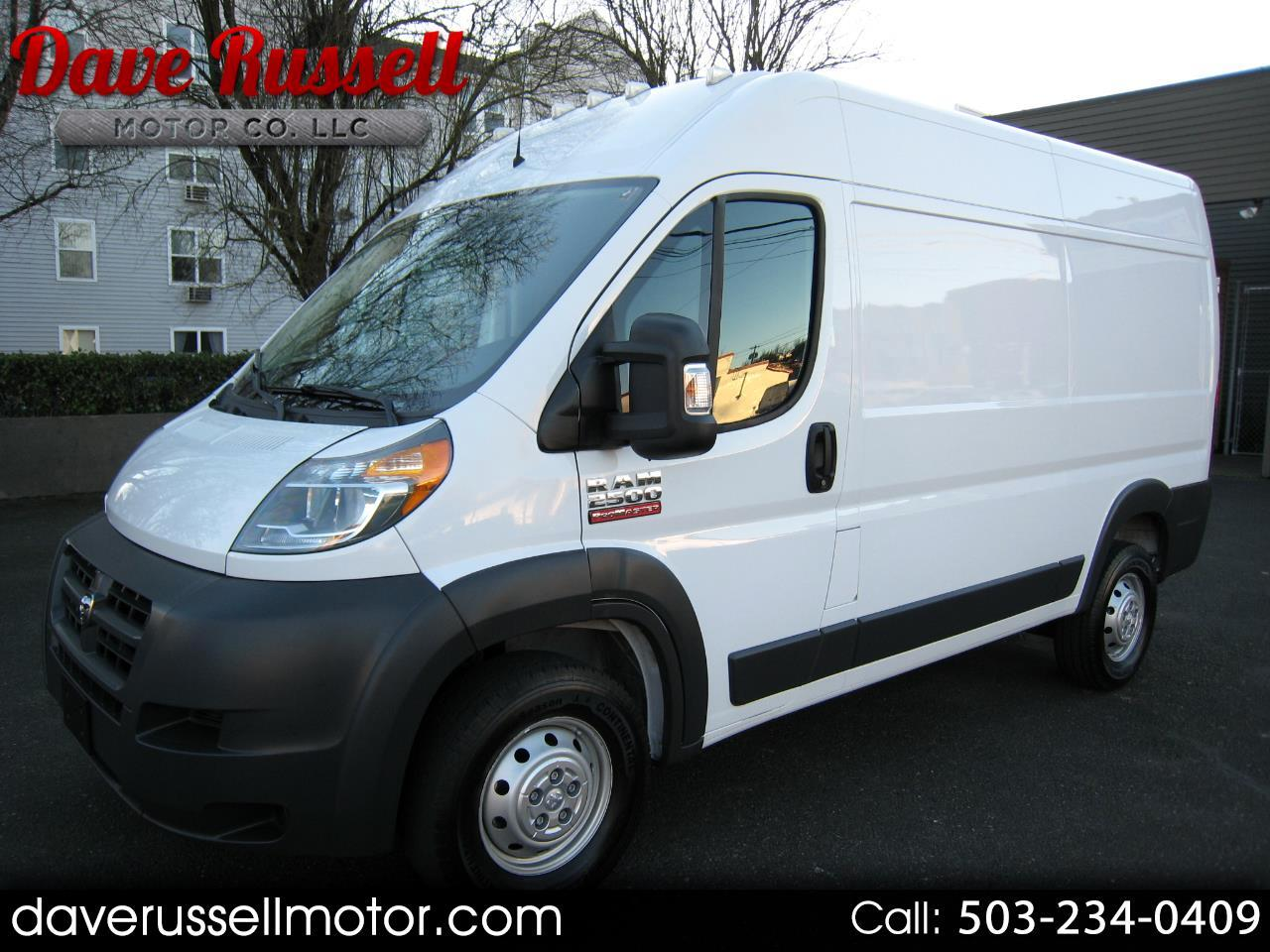 2016 RAM Promaster 2500 High Roof Tradesman Cargo Van 136-in. WB