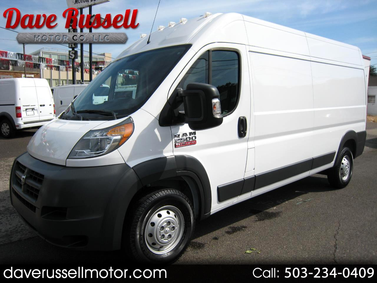 2016 RAM Promaster 2500 High Roof Tradesman Extended Cargo Van 159-in