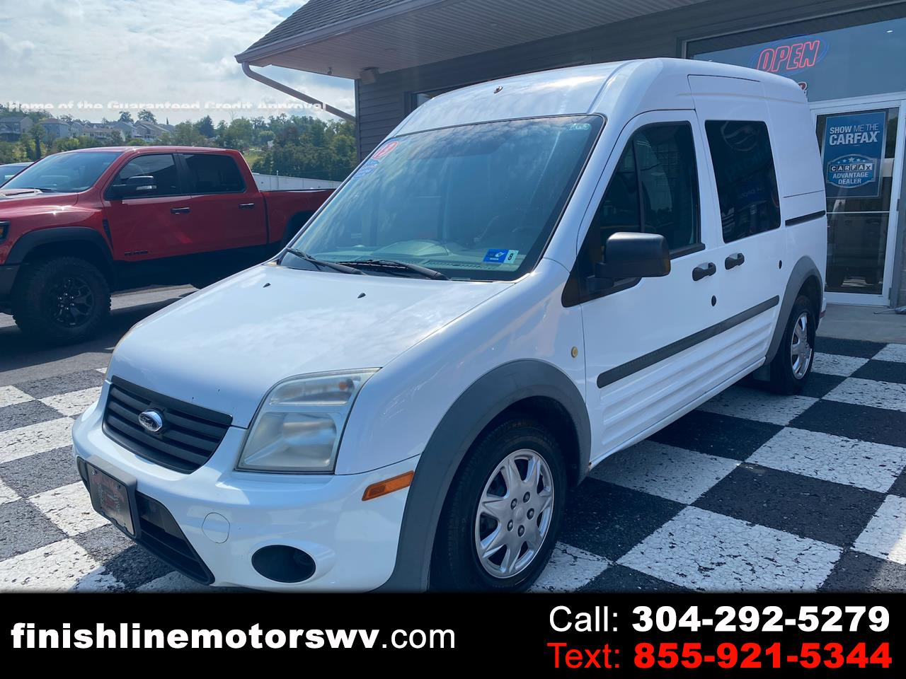"""Ford Transit Connect 114.6"""" XLT w/side & rear door privacy glass 2013"""