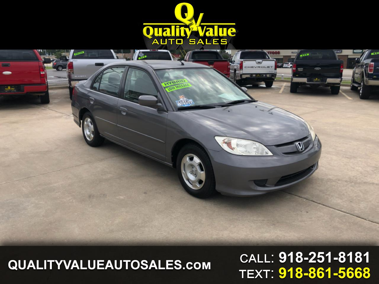 2004 Honda Civic Hybrid Sedan with CVT