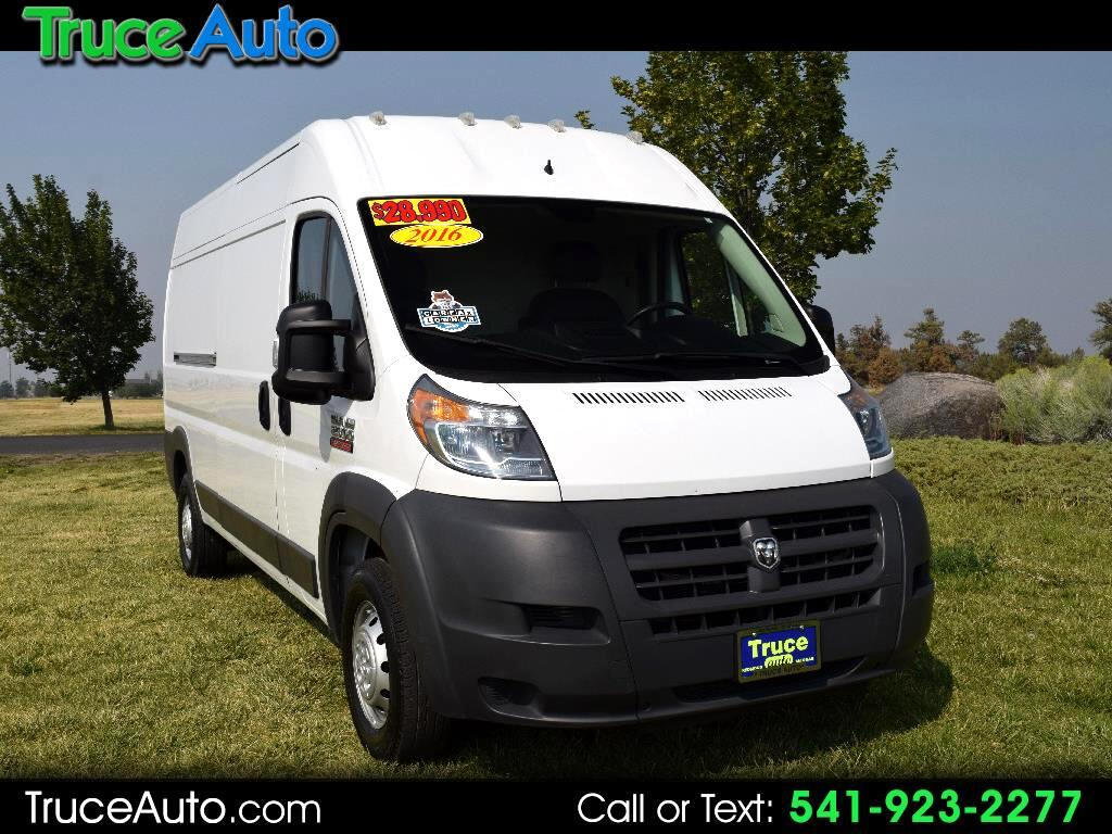 "2016 RAM ProMaster Cargo Van 2500 High Roof 159"" WB ***LOW MILES***"