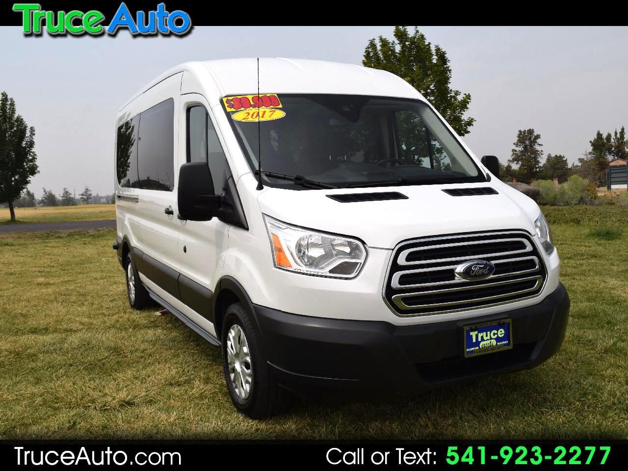 "2017 Ford Transit Wagon T-350 148"" XL Med Roof Sliding ***15 PASSENGER***"