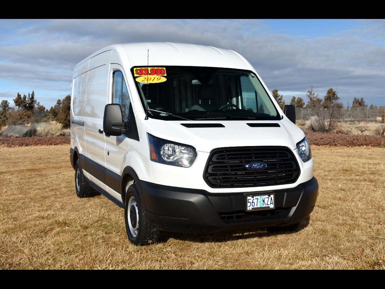 "2019 Ford Transit Van T-250 148"" MED RF SLIDING RH DR **ONE OWNER**"