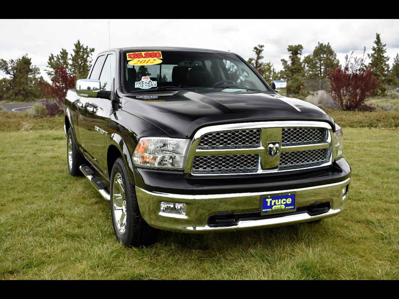 2012 RAM 1500 QUAD CAB LARAMIE **ONE OWNER** **LOW MILES**