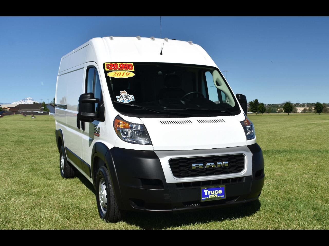 "2019 RAM ProMaster Cargo Van 1500 HIGH RF 136"" **ONE OWNER**"