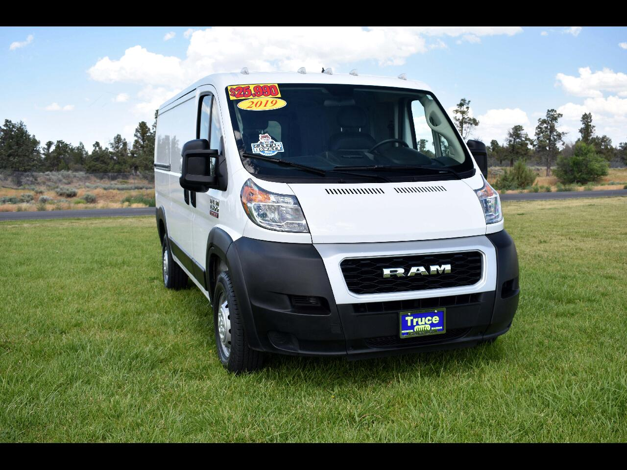 """2019 RAM ProMaster Cargo Van 1500 Low Roof 136"""" WB **ONE OWNER**"""