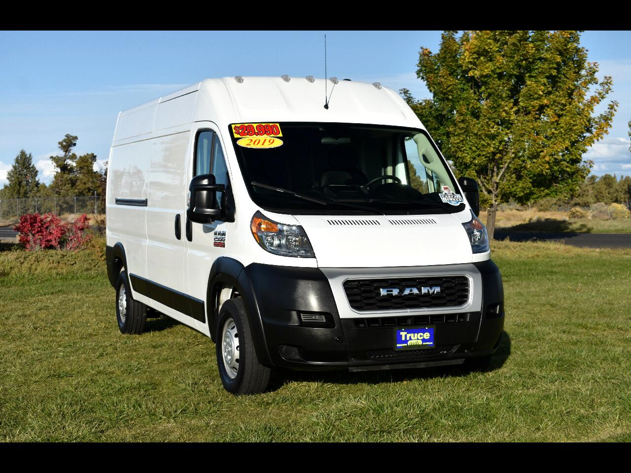 2019 RAM ProMaster Cargo Van 2500 High Roof **LOW MILES**ONE OWNER