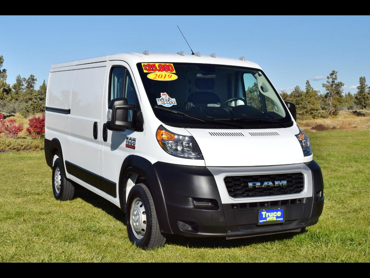 "2019 RAM ProMaster Cargo Van 1500 Low Roof 136"" WB**ONE OWNER**"