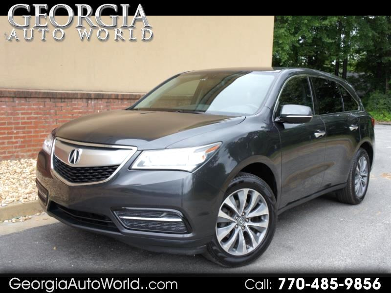 Acura MDX 6-Spd AT w/Tech and Entertainment Package 2014
