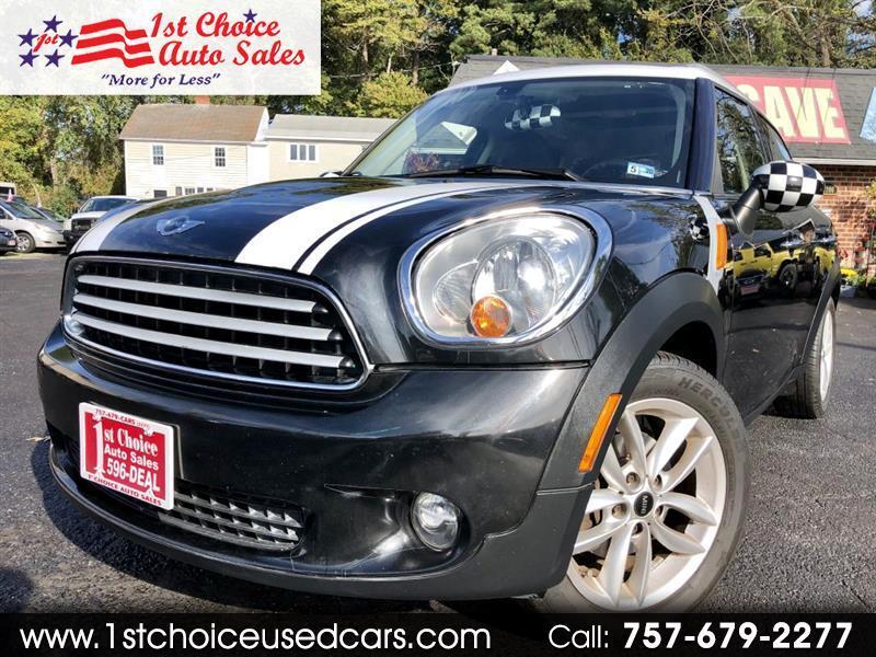 1St Choice Auto >> Used 2012 Mini Countryman Base For Sale In Newport News Va