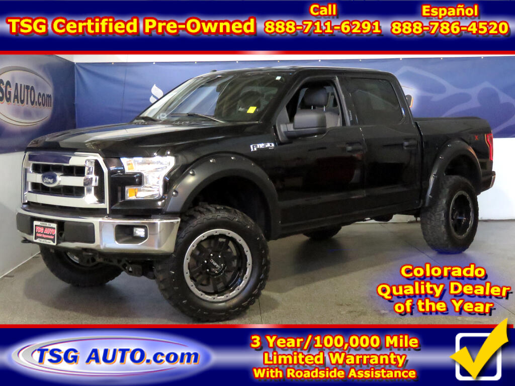 2016 Ford F-150 XLT SuperCrew 5.0L V8 4WD W/Custom Lift/Rims/Tires